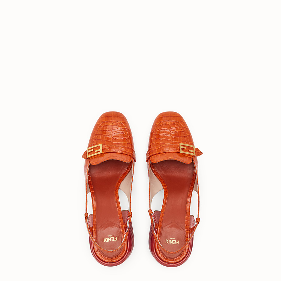 FENDI SLINGBACK - Red leather Promenades - view 4 detail