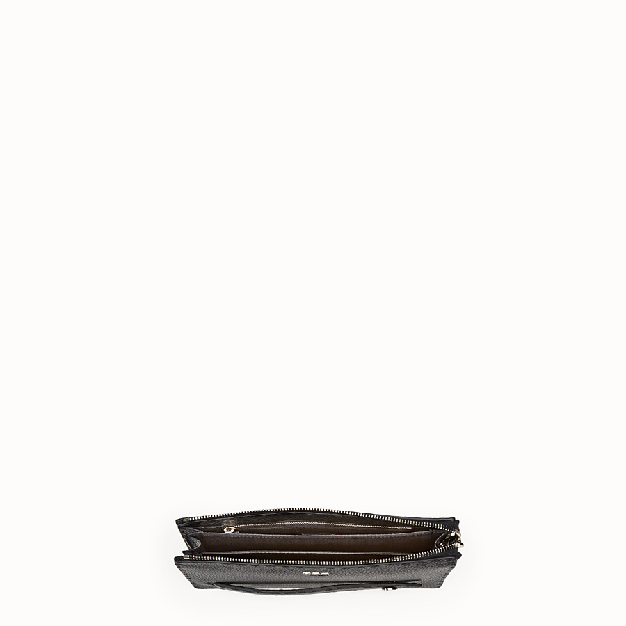 FENDI CLUTCH - Black leather clutch - view 4 detail