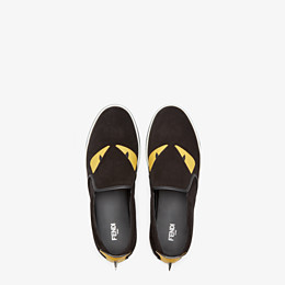 FENDI SNEAKER - Slip-on in schwarzem Leder - view 4 thumbnail