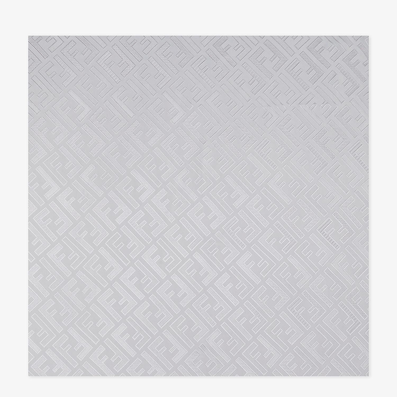 FENDI STOLA SIGNATURE - Stola in seta grigia - vista 1 dettaglio