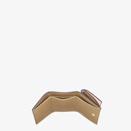 FENDI MICRO TRIFOLD - Pink leather wallet - view 4 thumbnail