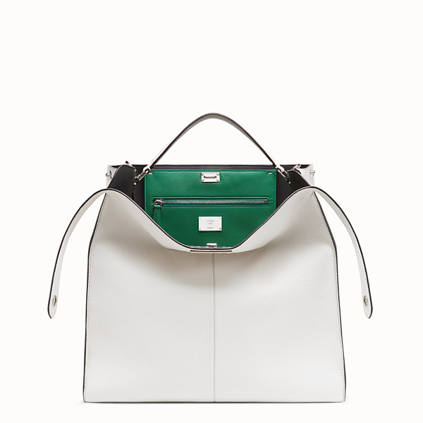 FENDI PEEKABOO X-LITE MEDIUM - White leather bag - view 1 small thumbnail