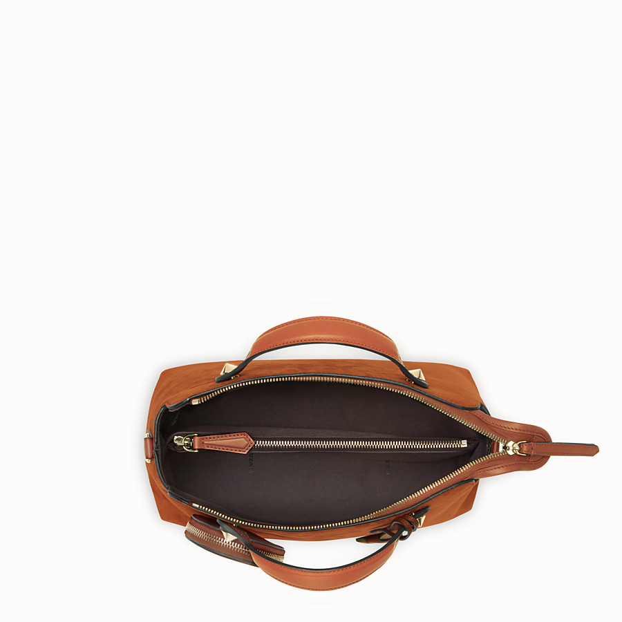 FENDI BY THE WAY REGULAR - Brown suede Boston bag - view 4 detail