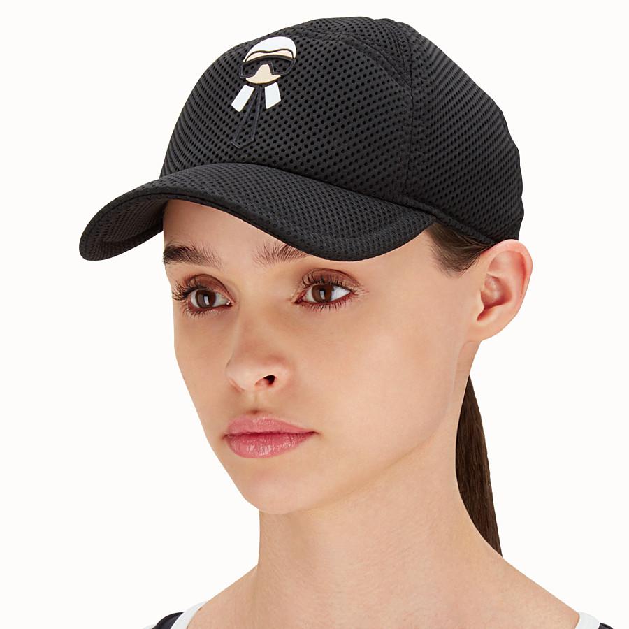 FENDI HAT - Baseball cap in black mesh - view 2 detail
