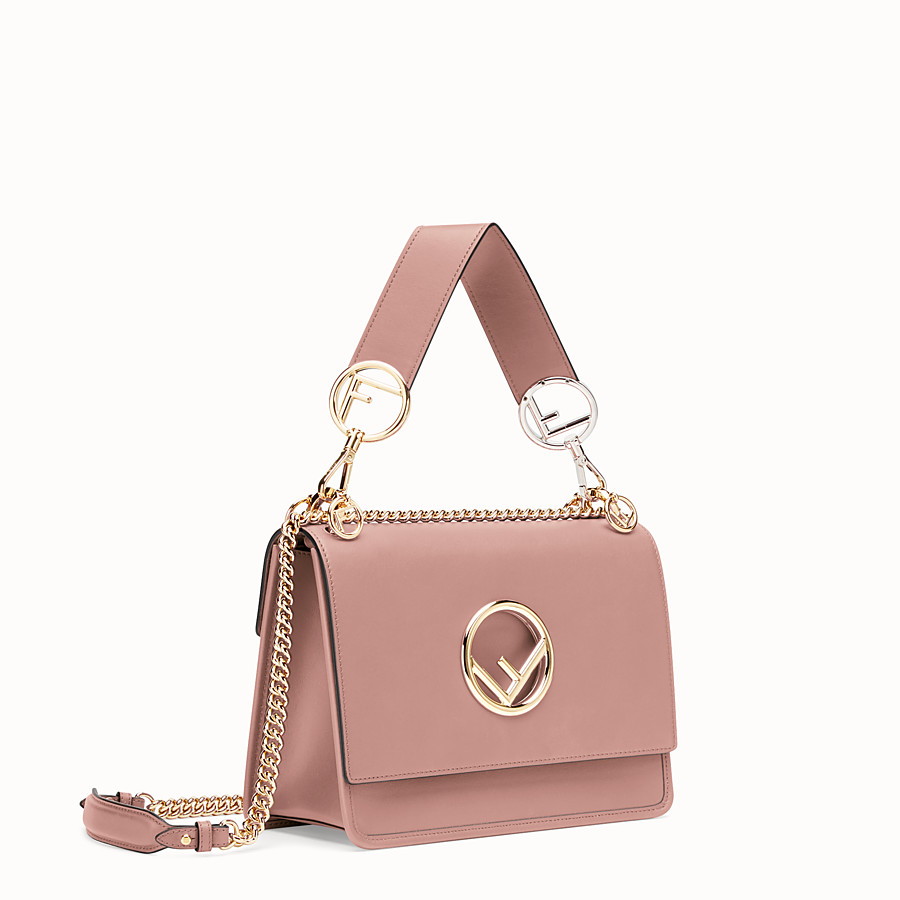 FENDI KAN I F - Pink leather bag - view 2 detail