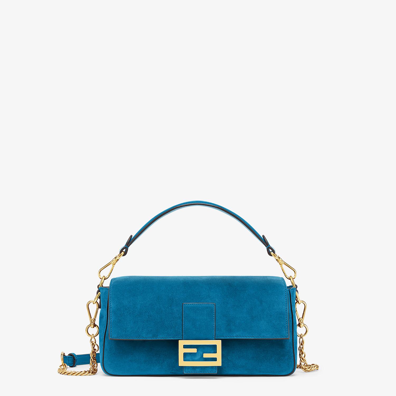 FENDI BAGUETTE - Blue suede bag - view 1 detail