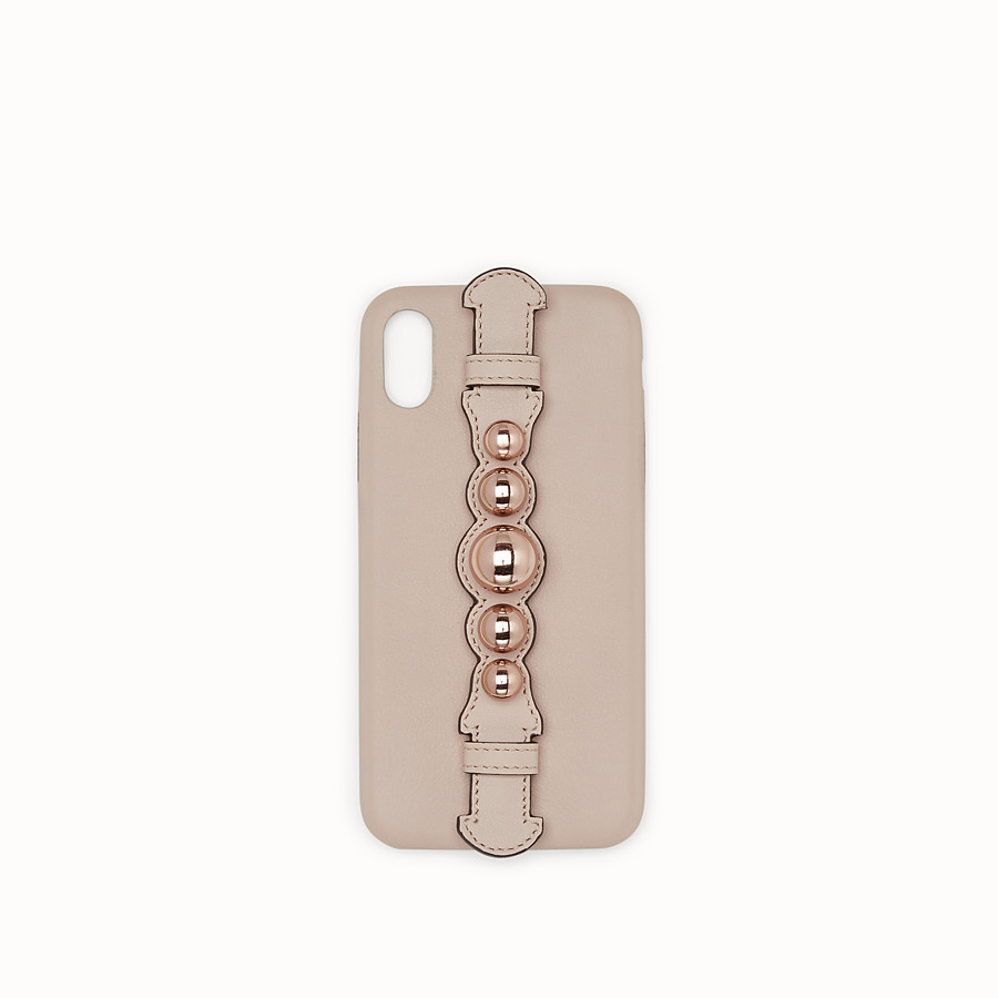 FENDI iPHONE X CASE - Pink cover - view 1 detail