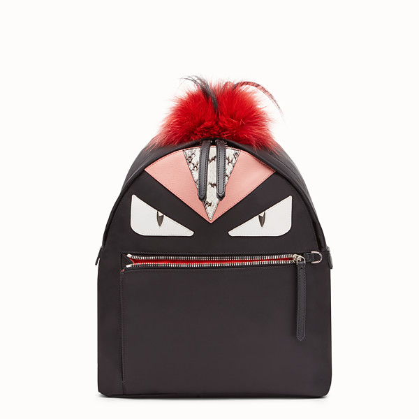 FENDI BACKPACK - in nylon and leather with Bag Bugs eyes - view 1 small thumbnail