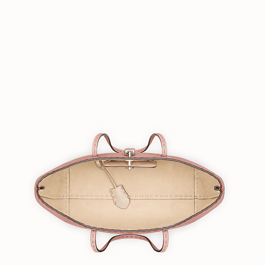 FENDI CARLA BAG SMALL - Pink leather bag - view 4 detail
