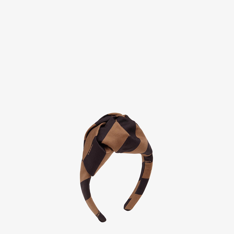 FENDI HEADBAND - Brown twill headband - view 1 detail
