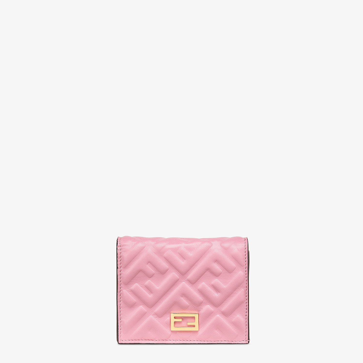 FENDI SMALL WALLET - Pink nappa leather wallet - view 1 detail