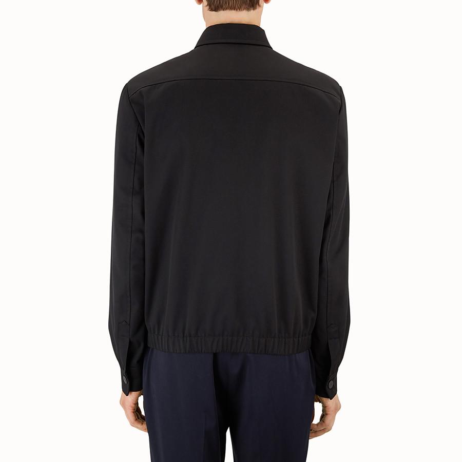 FENDI 外套 - 黑色高密度棉斜布外套 - view 2 detail