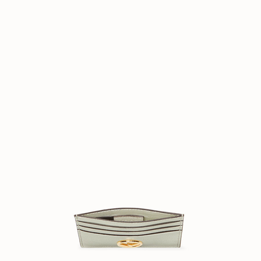 FENDI CARD HOLDER - Green leather flat card holder - view 4 detail