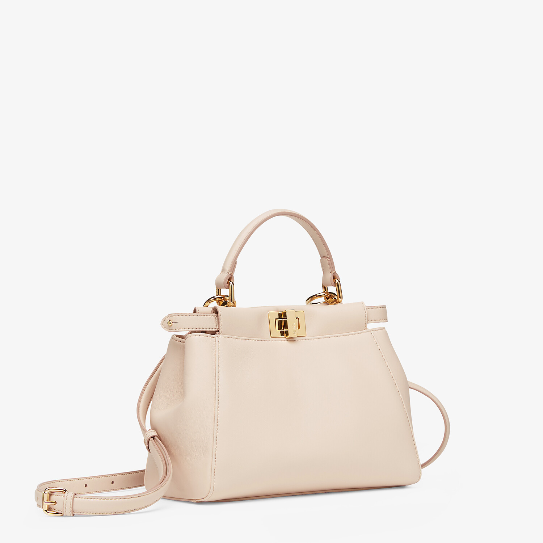 FENDI ICONIC PEEKABOO MINI - Pink nappa leather bag - view 2 detail