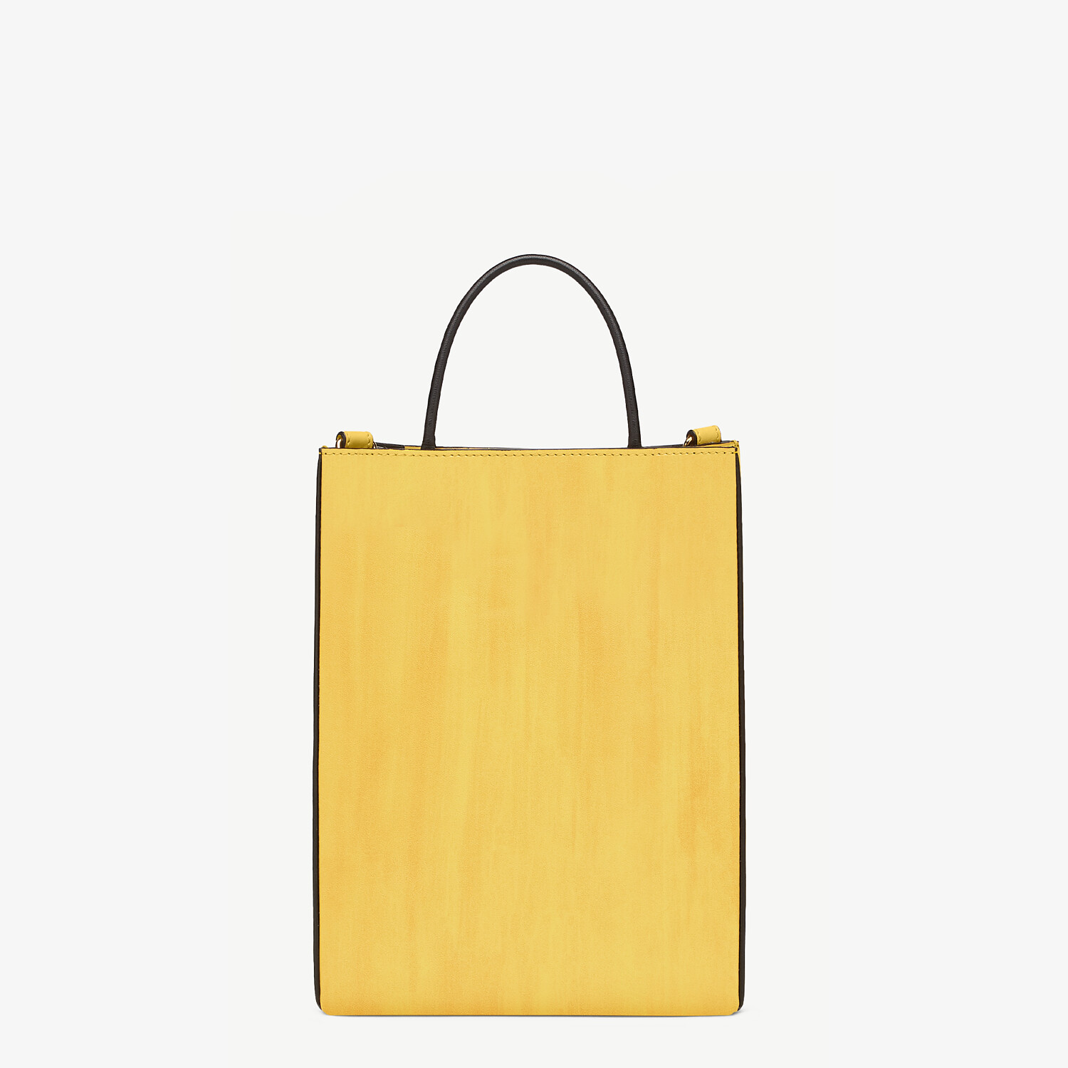 FENDI FENDI PACK SMALL SHOPPING BAG - Yellow leather bag - view 3 detail