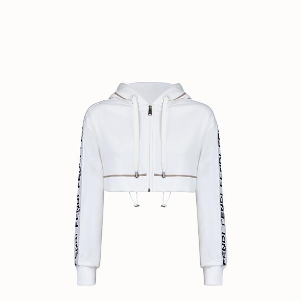 FENDI SWEATSHIRT - White jersey sweatshirt - view 1 small thumbnail