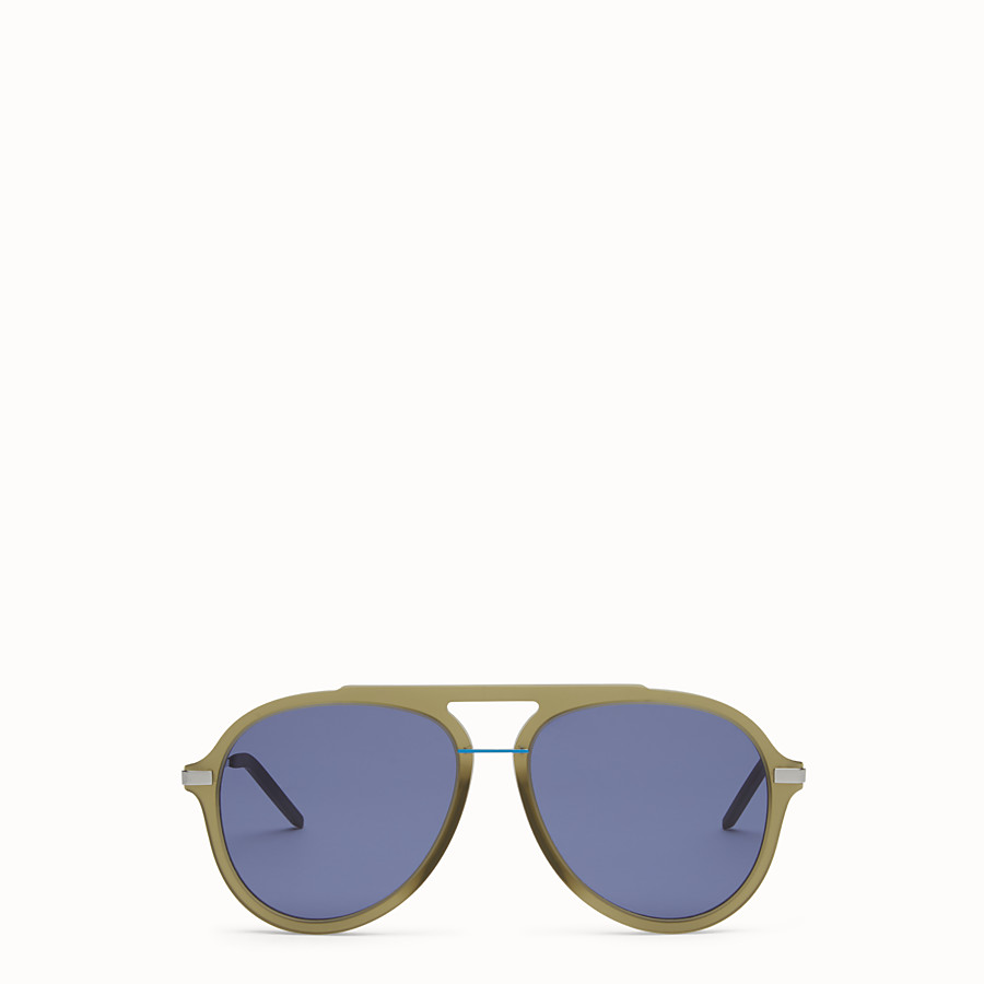 FENDI FENDI FANTASTIC - Green satin-finish sunglasses - view 1 detail