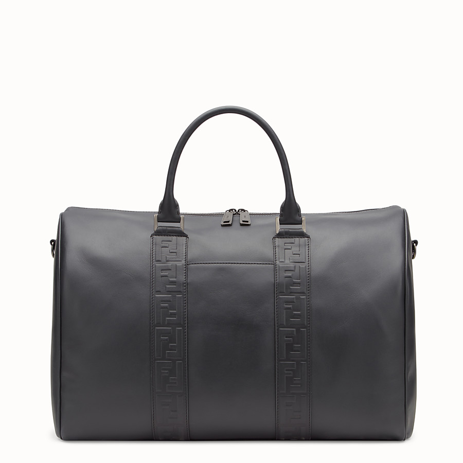 FENDI SATCHEL - Black leather bag - view 1 detail