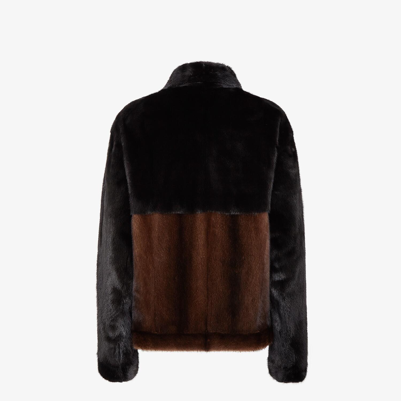 FENDI BLOUSON JACKET - Brown mink jacket - view 2 detail