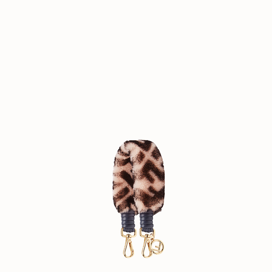 FENDI MINI STRAP YOU - Sheepskin shoulder strap - view 1 detail