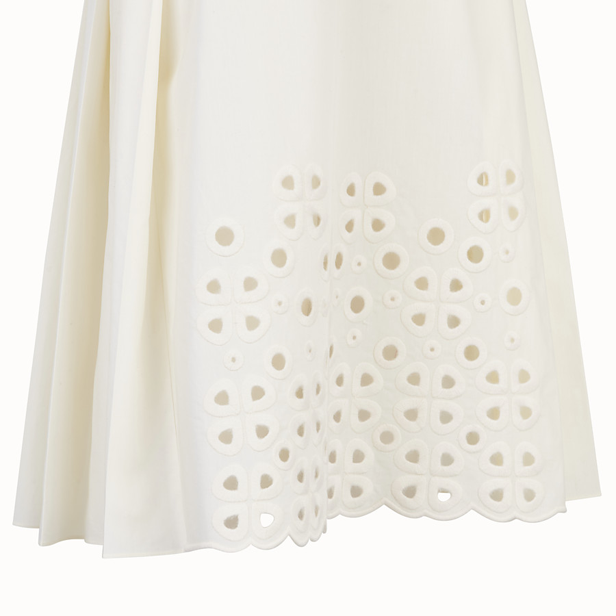 FENDI SKIRT - White taffeta skirt - view 3 detail