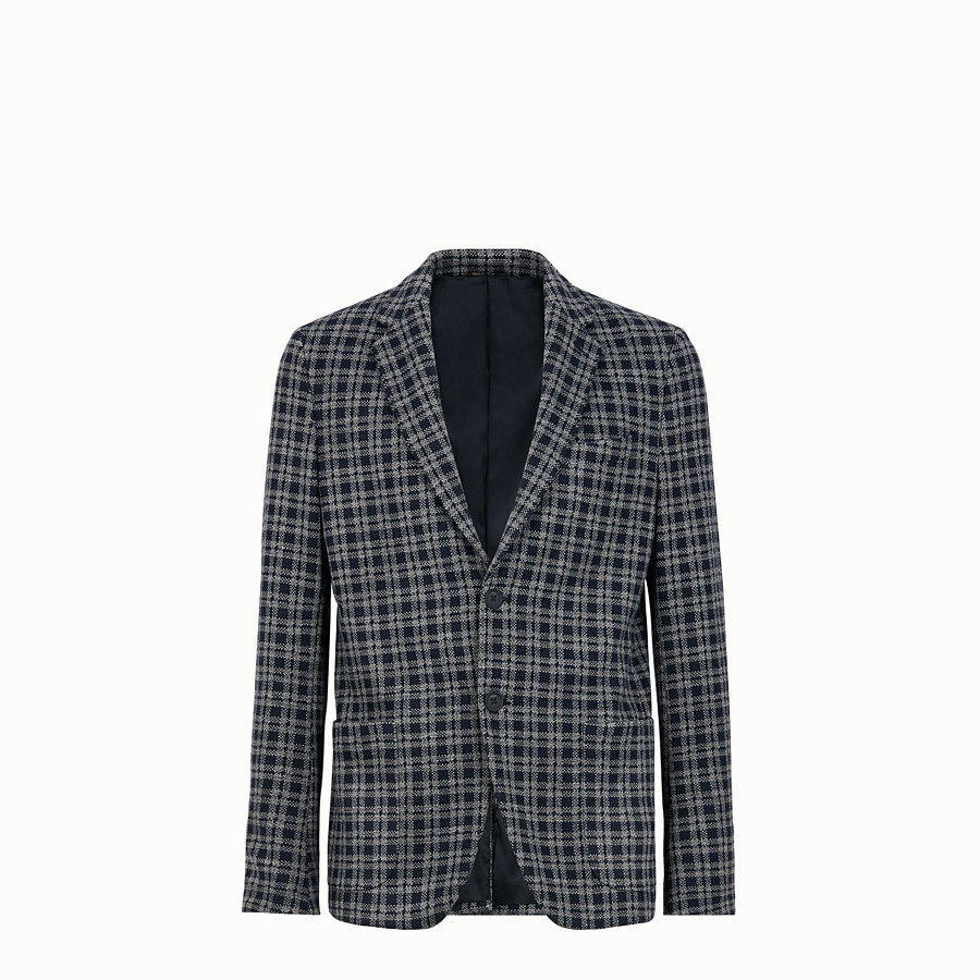 FENDI JACKET - Blue wool blazer - view 1 detail