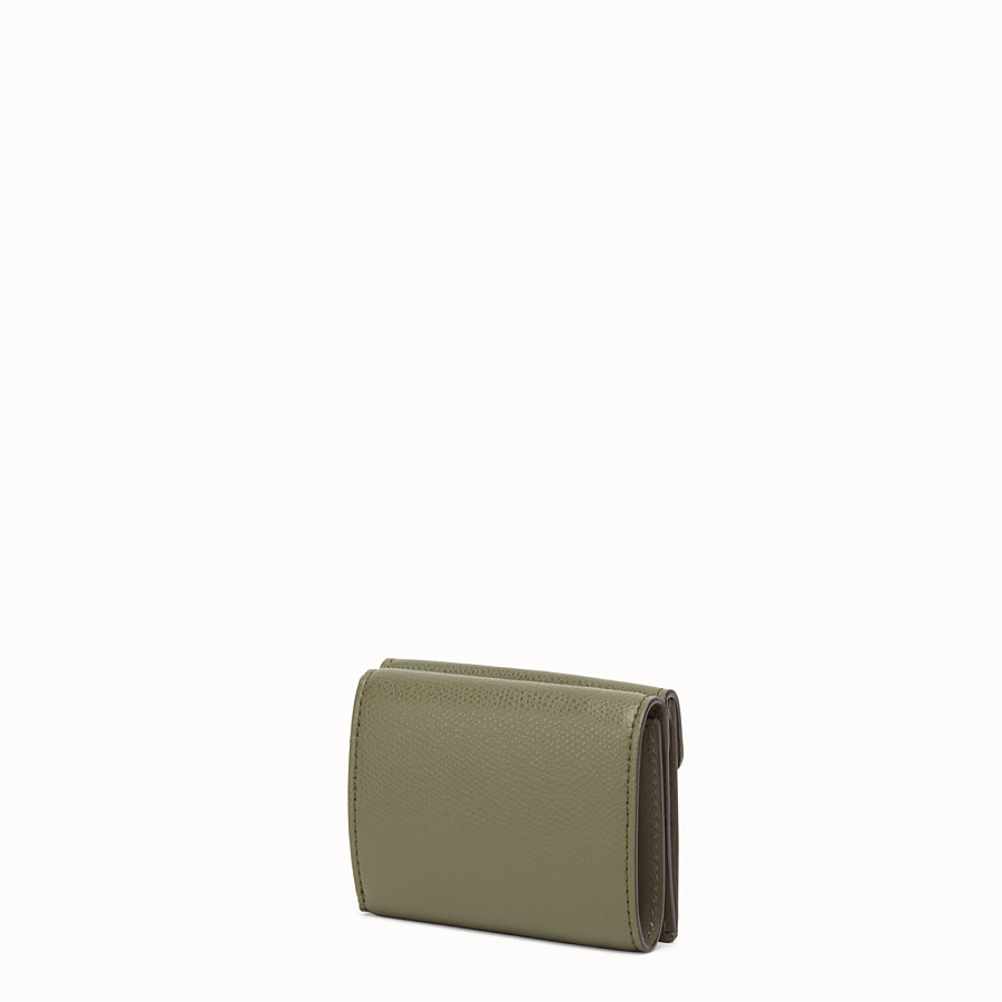 FENDI MICRO TRIFOLD - Green leather wallet - view 2 detail