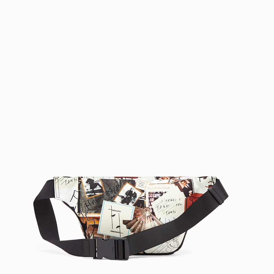 FENDI BELT BAG - Multicolour nylon belt bag - view 3 detail