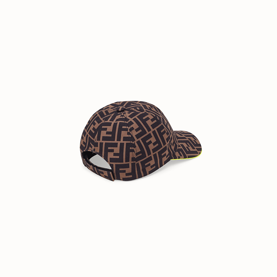 FENDI HAT - Brown canvas hat - view 2 detail