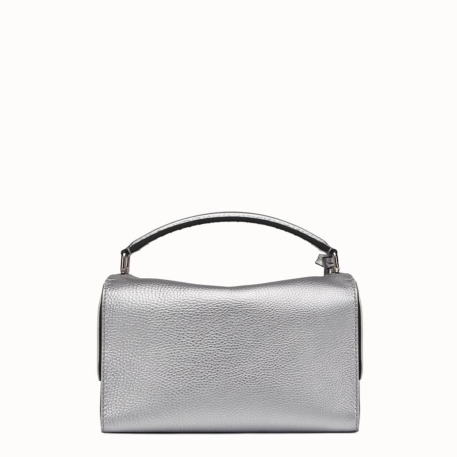 FENDI LEI SELLERIA - Silver Roman leather Boston bag - view 3 detail