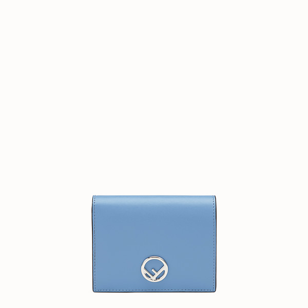 FENDI BIFOLD - Light blue compact leather wallet - view 1 small thumbnail