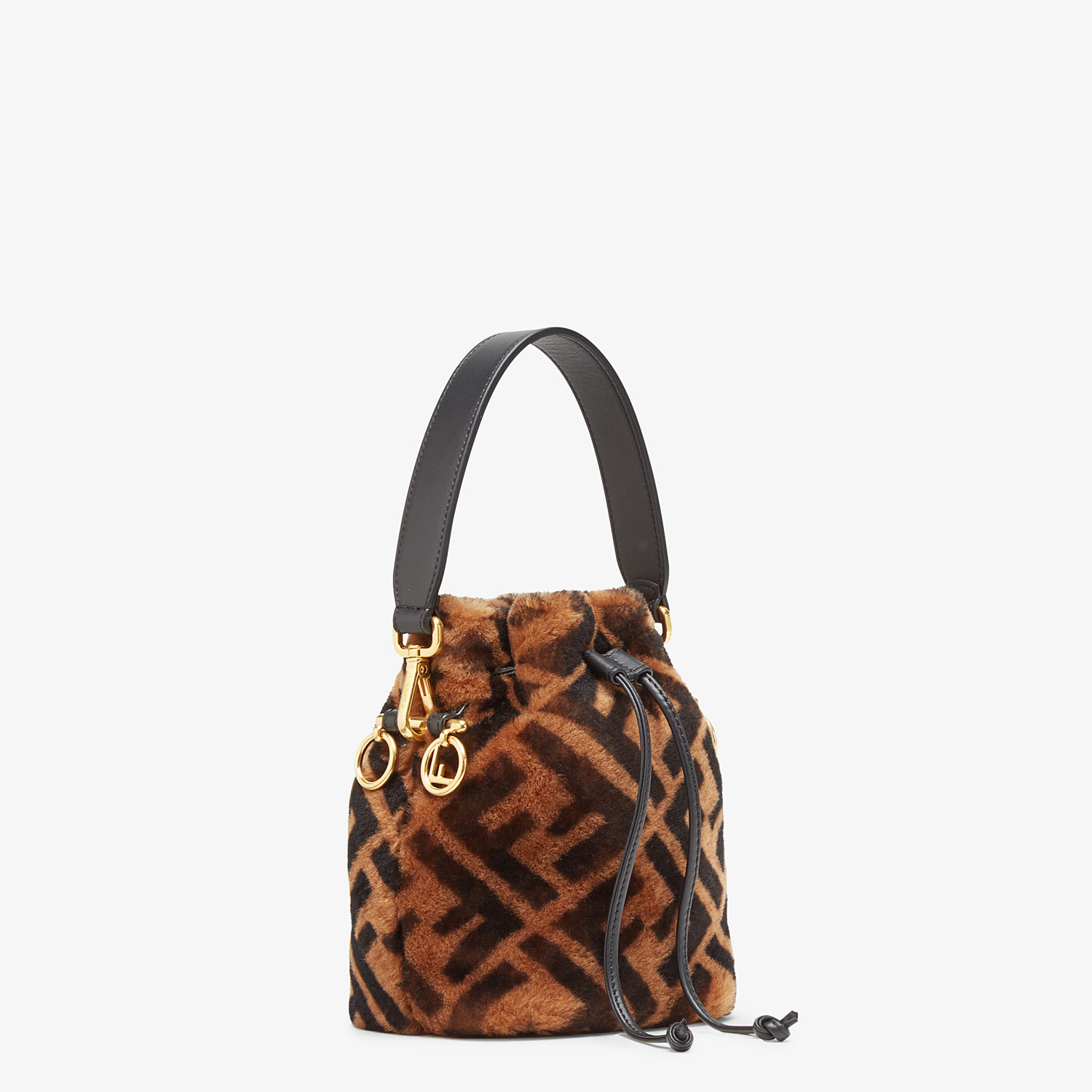 FENDI MON TRESOR - Mini-bag in brown sheepskin - view 3 detail