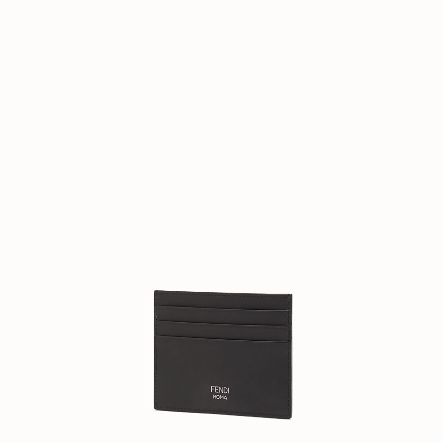 FENDI CARD HOLDER - in gray laminated leather - view 2 detail