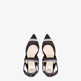 FENDI SLINGBACKS - Colibrì in black mesh - view 4 thumbnail