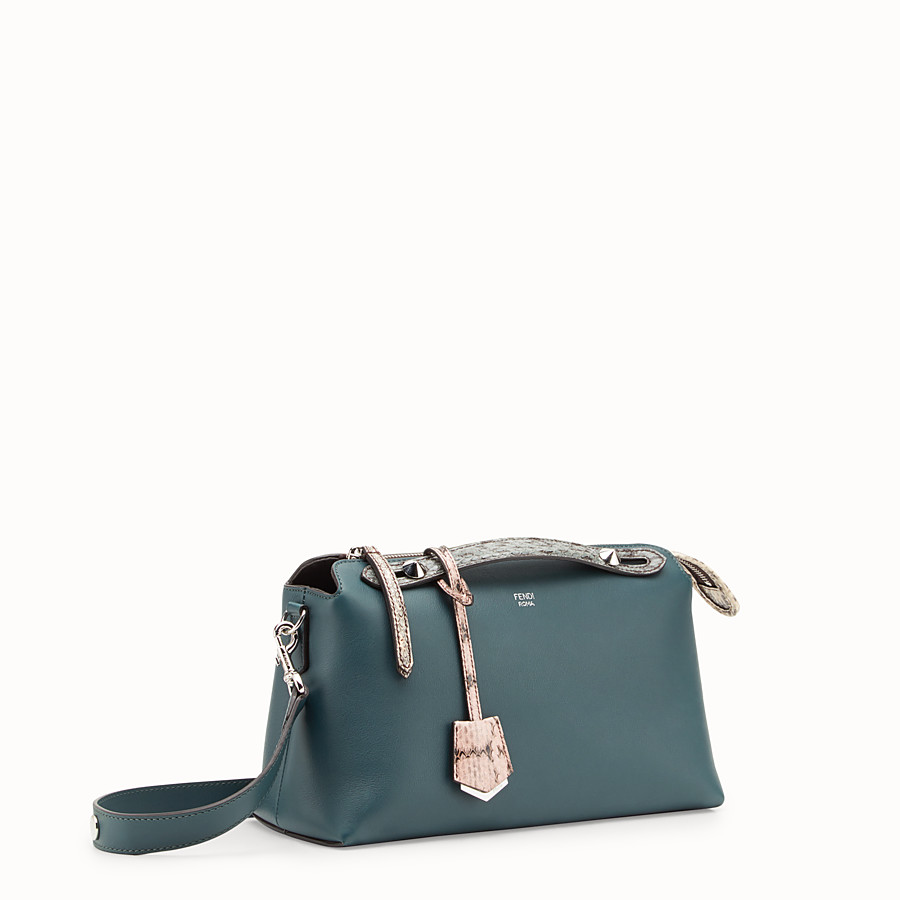 FENDI BY THE WAY REGULAR - Green leather Boston bag with exotic details - view 2 detail
