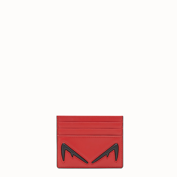 FENDI PORTE-CARTES - Porte-cartes en cuir rouge - view 1 small thumbnail