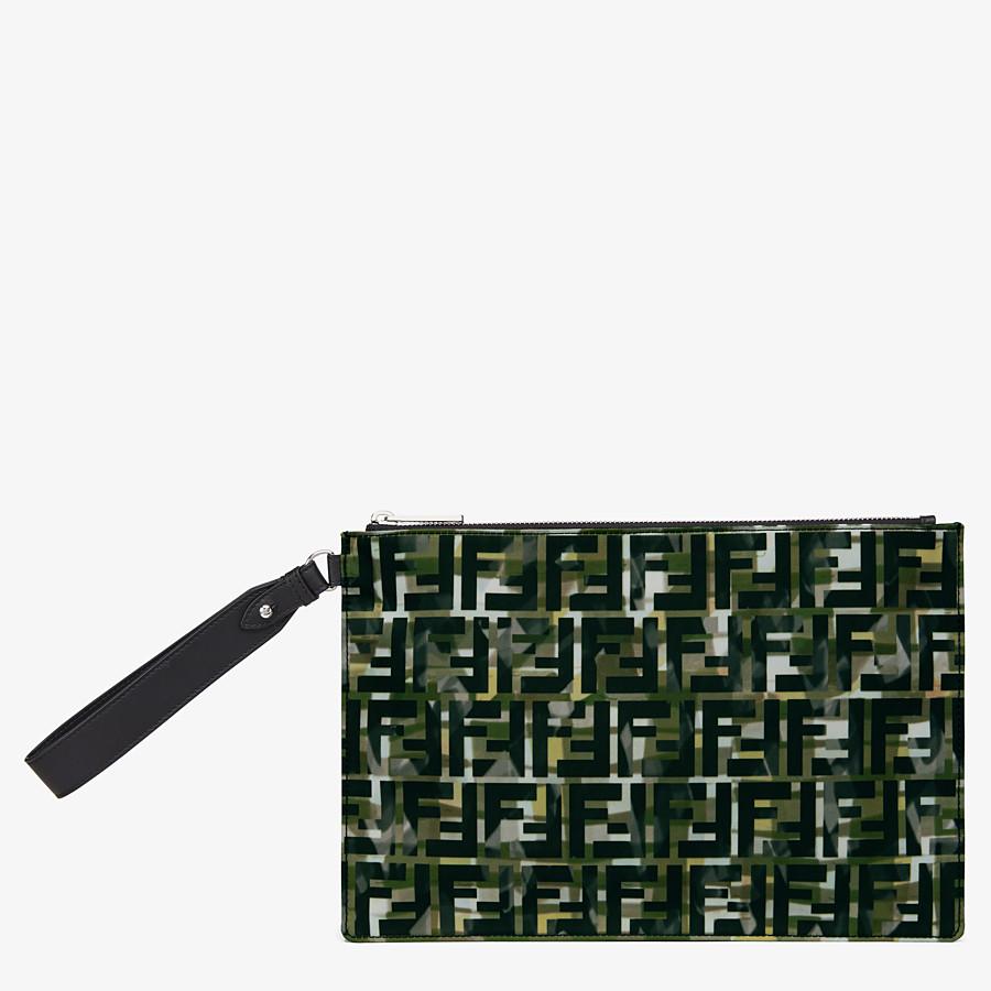 FENDI POUCH - Multicolour nylon pochette - view 1 detail