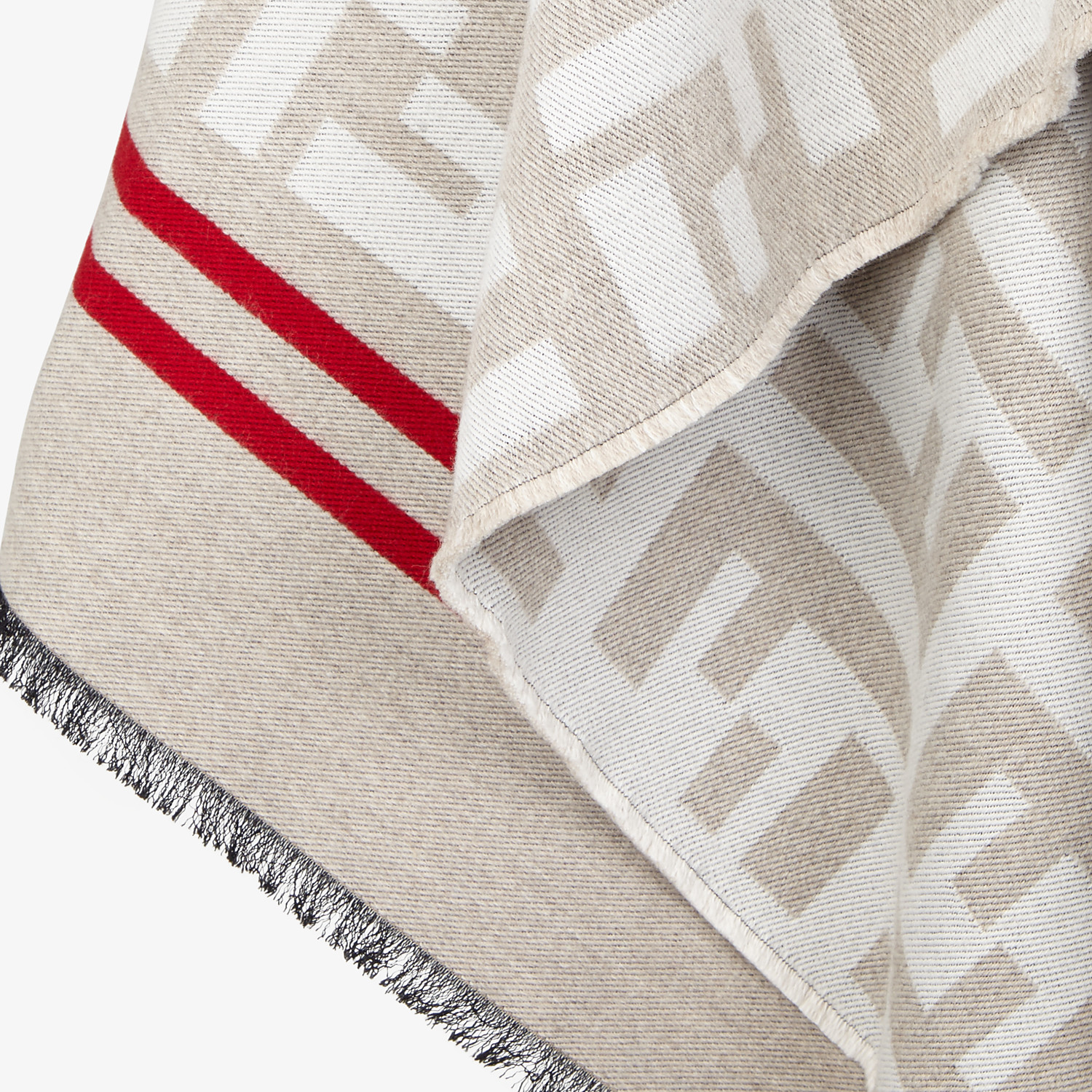 FENDI FF PONCHO - Multicolor wool and silk poncho - view 3 detail
