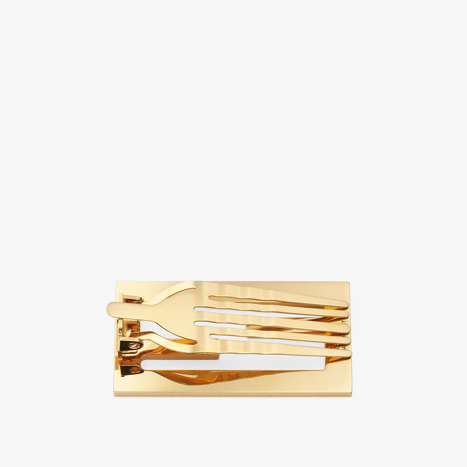 FENDI BAGUETTE HAIR CLIP - Gold-colored hair clip - view 2 detail