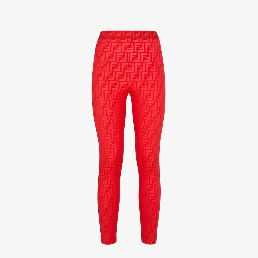 FENDI LEGGINGS - Red tech fabric leggings - view 1 detail