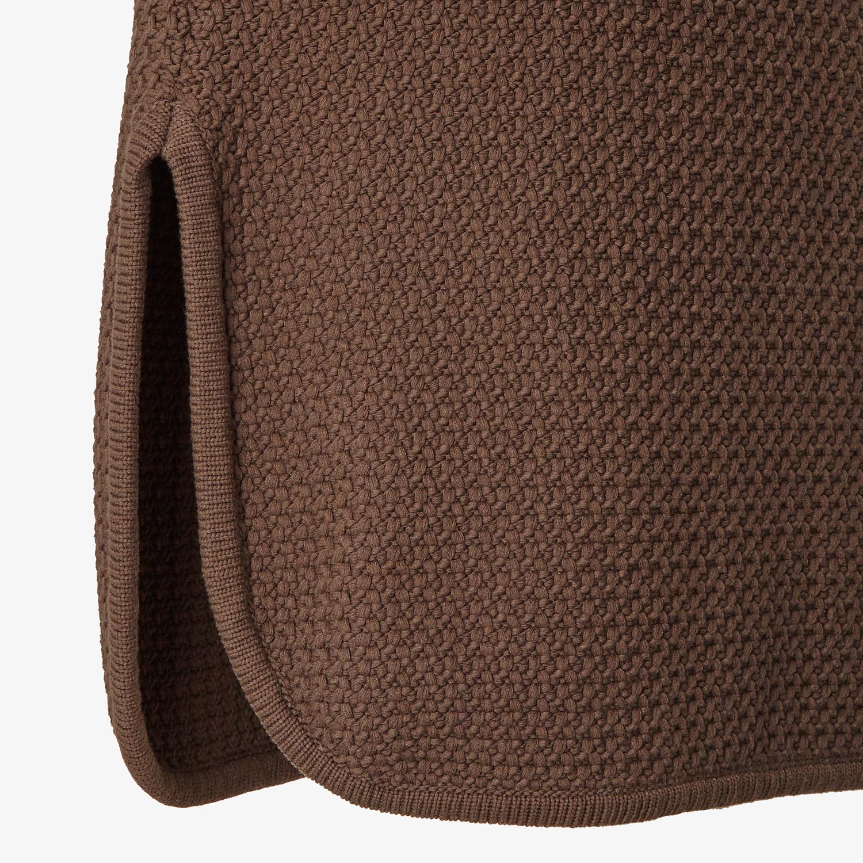 FENDI TOP - Brown cotton top - view 3 detail