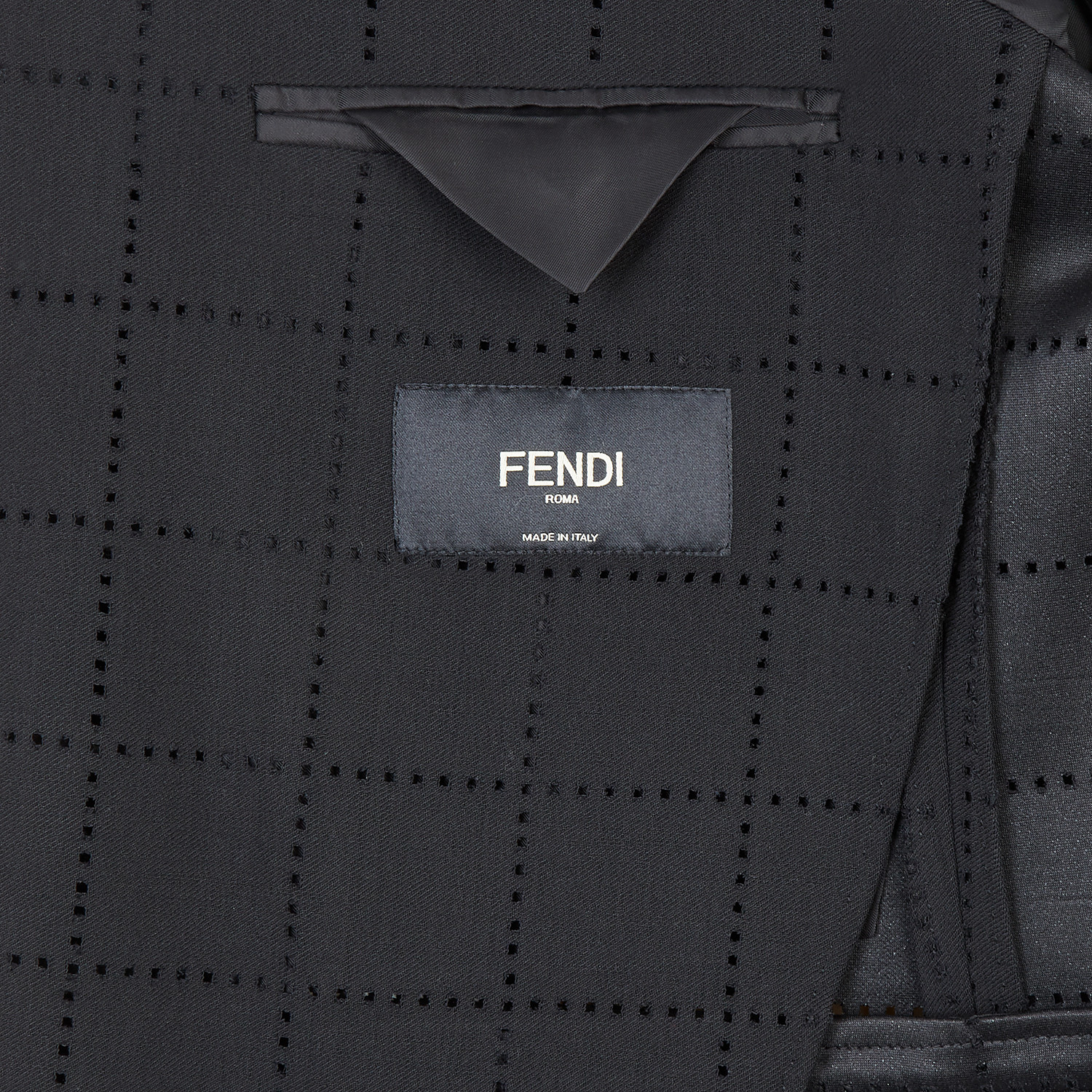 FENDI JACKET - Black wool blazer - view 5 detail