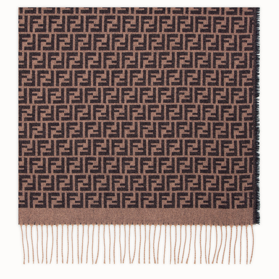 FENDI TRAVEL SET - Brown cashmere travel set - view 2 detail
