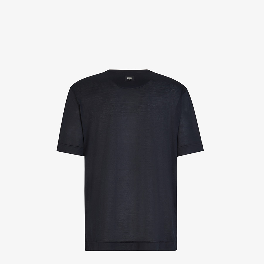 FENDI T-SHIRT - Black silk T-shirt - view 2 detail