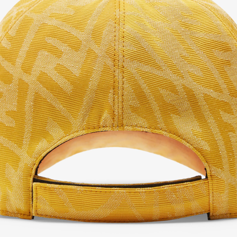 FENDI HAT - Yellow canvas baseball cap - view 2 detail