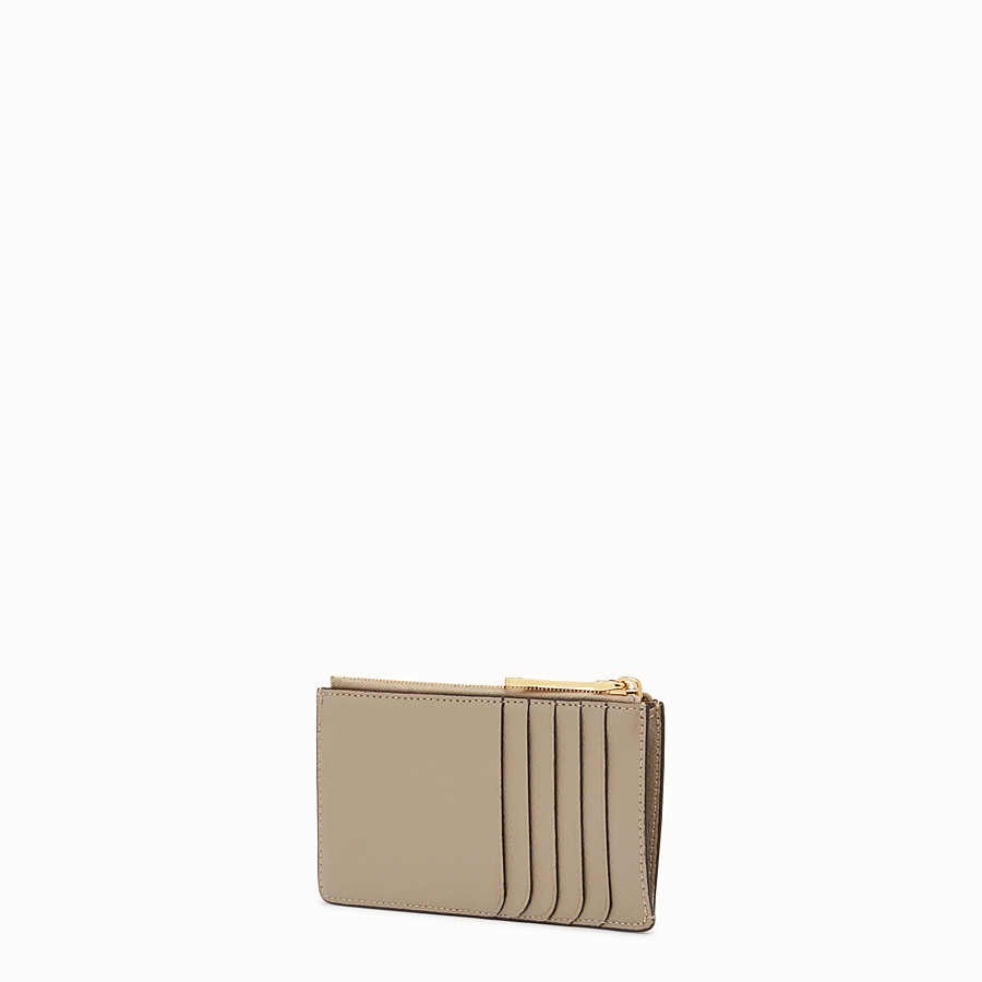 FENDI KEY RING POUCH - Grey leather pouch - view 2 detail