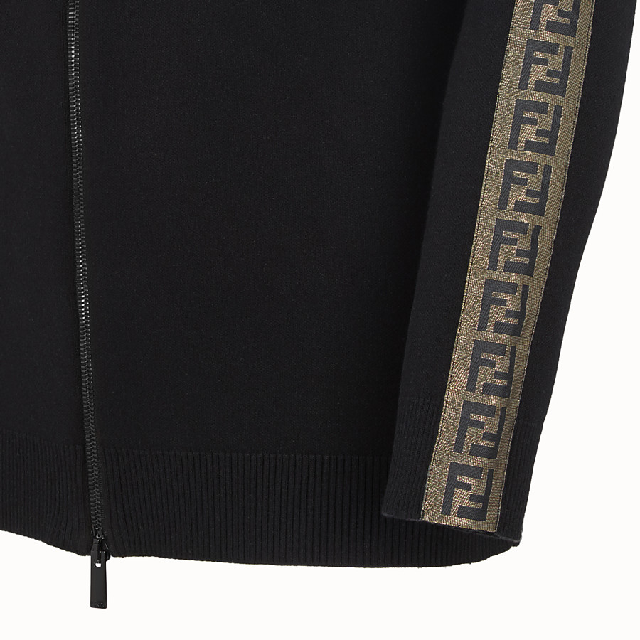 FENDI CARDIGAN - Black fabric jumper - view 3 detail