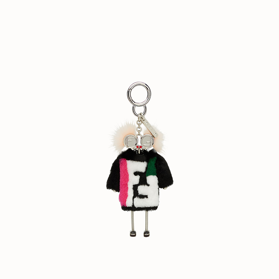 FENDI TEEN WITCHES吊飾 - 黑色兔毛吊飾 - view 2 detail