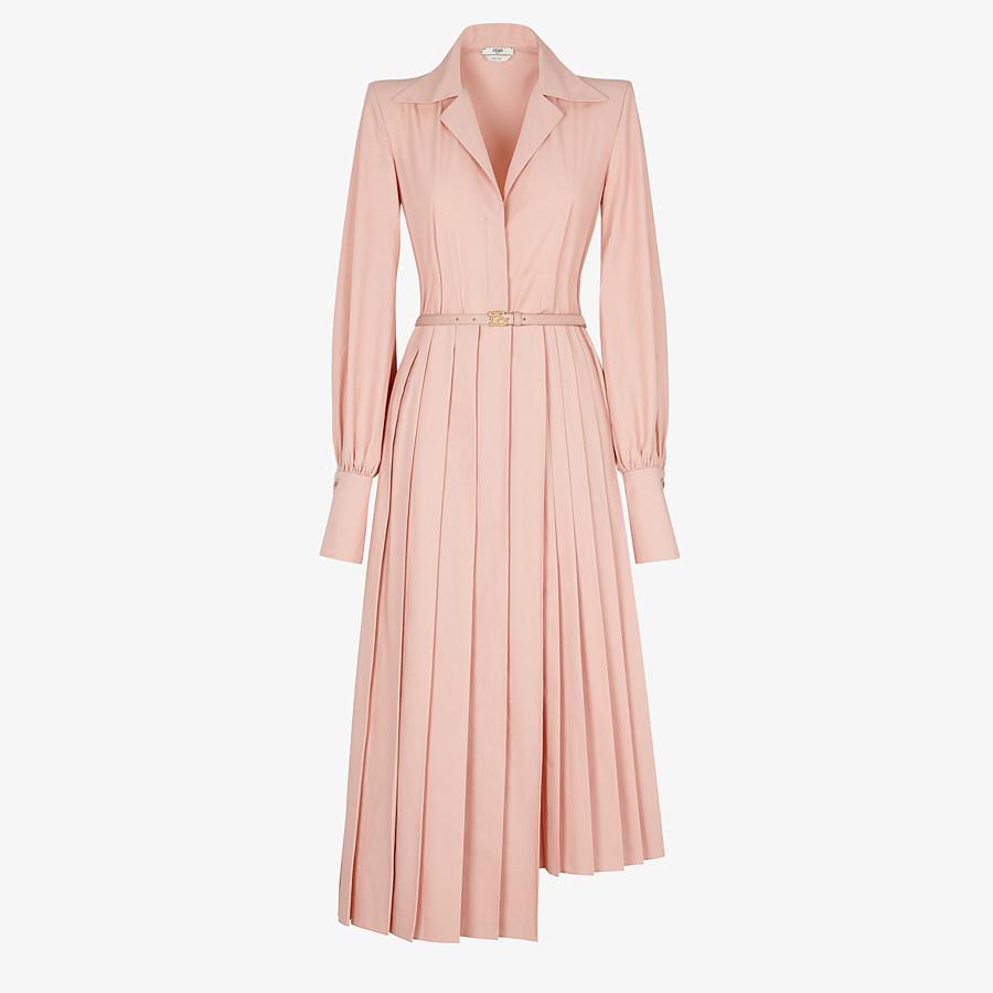 FENDI DRESS - Pink cotton taffeta dress - view 1 detail