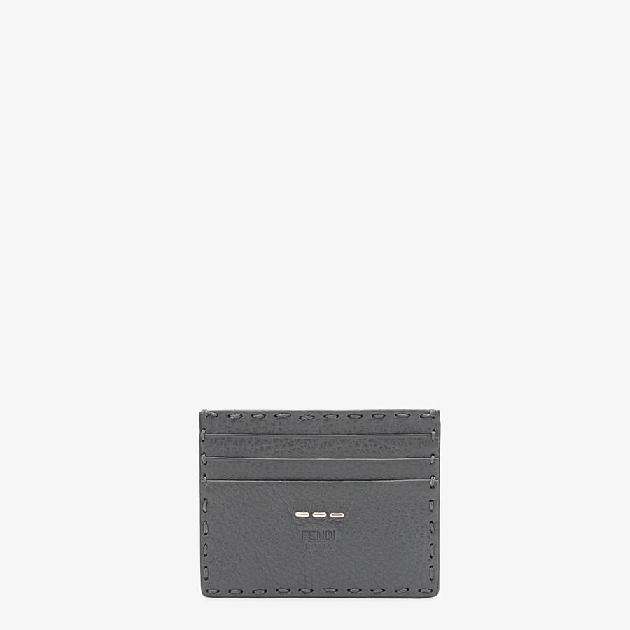 FENDI CARD HOLDER - Selleria 6-slot card holder in grey - view 1 detail